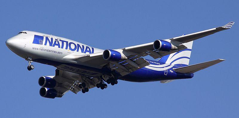 Vue du Boeing 747-400 Cargo qui s'est écrasé.