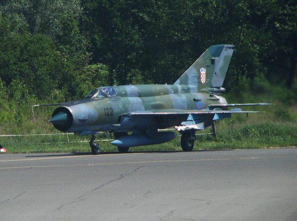 MiG-21 Fishbed de chasse.
