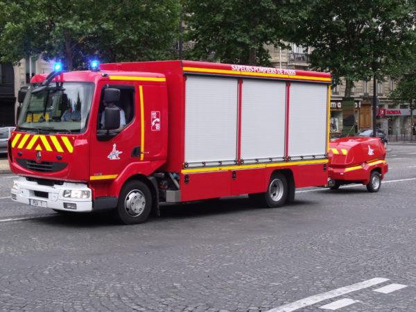 Parmi les vedettes du défilé au sol, les pompiers de Paris.