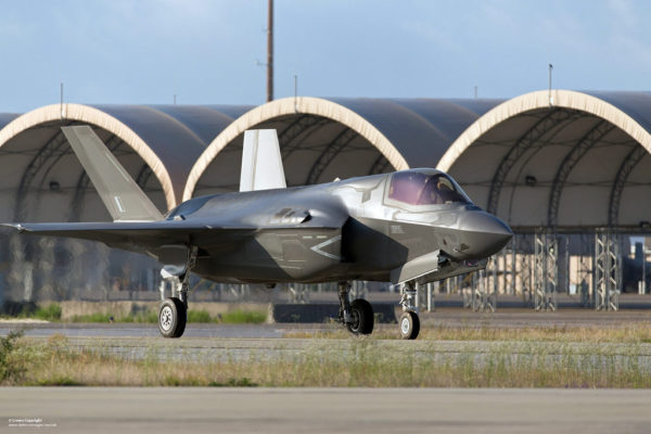 Lockheed-martin F-35B porteur du code britannique ZM136 sur le tarmac d'Eglin-AFB.