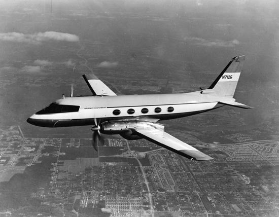 Grumman G-159 en vol.