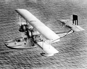 Hydravion de patrouille Hall Aluminium PH-2 en vol.