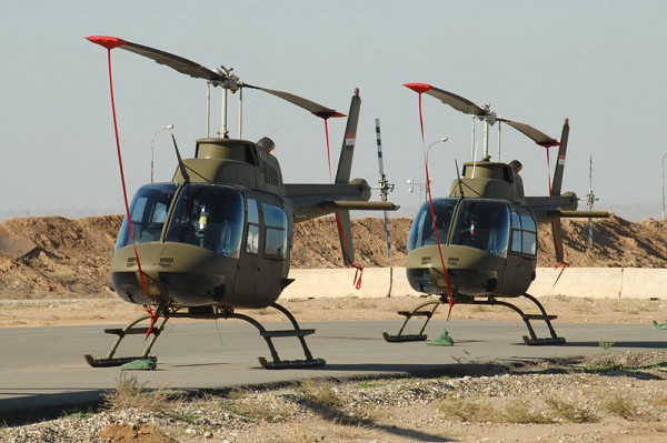 Symbole fort d'une Irak passée sous influence américaine, le Bell 206B Jet-Ranger.