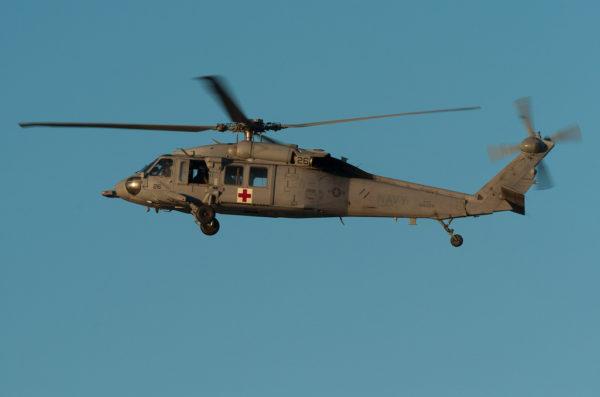 Sikorsky MH-60S en version d'évacuation sanitaire.