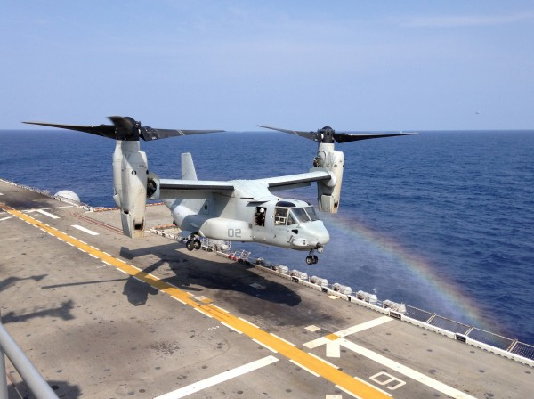 Bell/Boeing MV-22B Osprey appartenant à l'US Marines Corps.