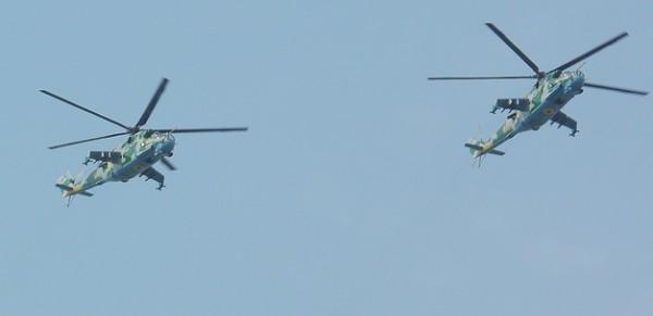 "Mil Mi-24 ukrainiens, vu ici ""à la parade""."