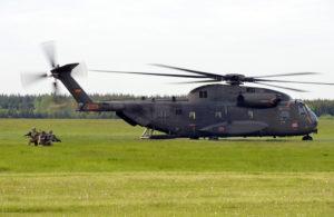Toujours aussi impressionnant malgré son âge, le CH-53G allemand.