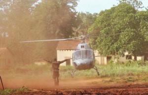 Fennec au décollage depuis la Centrafrique.