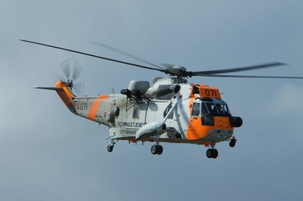 Un Sea King norvégien dans sa configuration actuelle de recherche et sauvetage.