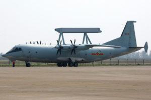 Le KJ-200 un des redoutables avions de surveillance chinois.