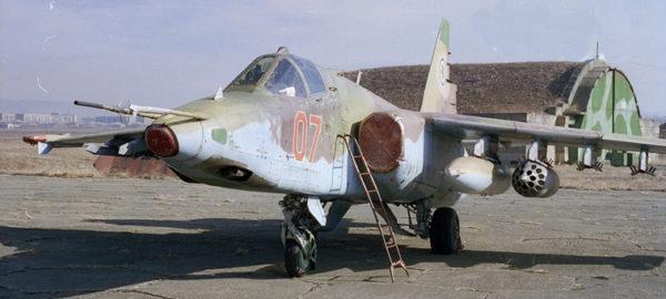 """L'état général de la """"chasse"""" géorgienne laisse perplexe. Seul un ou deux avions semblent réellement en état de vol."""