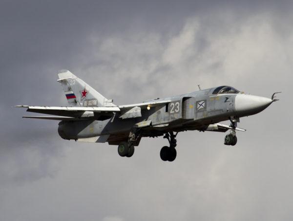 Sukhoi Su-24MK appartenant à l'aéronavale russe.