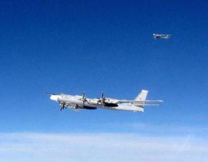 Les Tu-95 russes identifiés par la RAF au-dessus de la Manche.