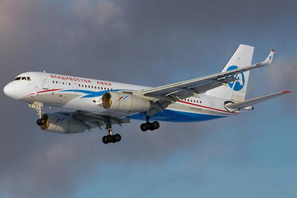 Une des deux anciens Tu-204-300 de Vladivostok Air racheté.