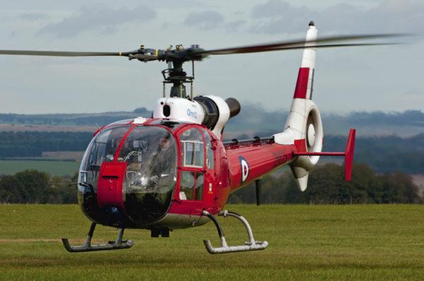 C'est sur cette Gazelle HT Mk-3 appartenant à QinetiQ que les essais ont été menés.