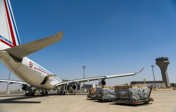 L'Airbus A340 F-RAJA sur le tarmac irakien d'Erbil.