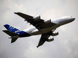 Le gros porteur d'Airbus, l'A380, était de la partie