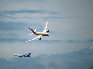 L'A380 et le B787 ensemble involontairement