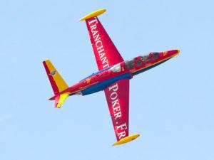 Le Groupe Tranchant présente son Fouga Magister avec Jack Krine aux commandes.