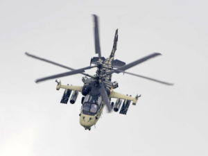 Ka-52 Alligator en vol au Bourget