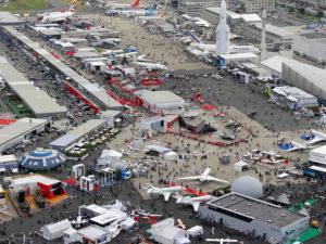 Vue aérienne du 50ème Paris Air Show