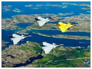 Délégation de l'EC 1/7 Provence au dessus de la Norvège