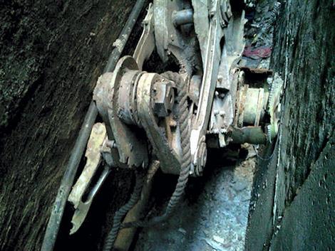 Le morceau de train d'atterrissage découvert à New York.