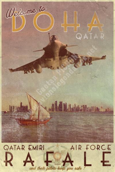 Et HOP ! ... Dans la musette ! Poster-rafale-qatar-emiri-air-force-gaetan-pichon-400x600