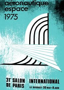 Affiche officielle du Bourget 1975