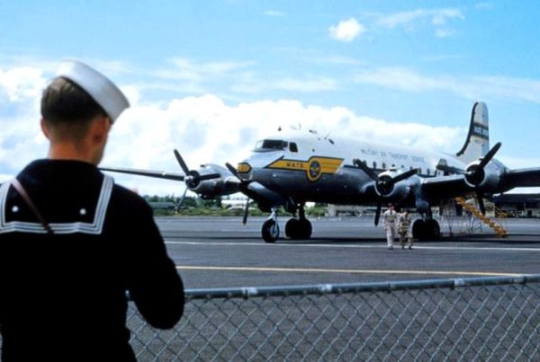 Hilo 1953 MATS (Military Air Transport Service) C-118 Liftmaster and C-47 Skytrain